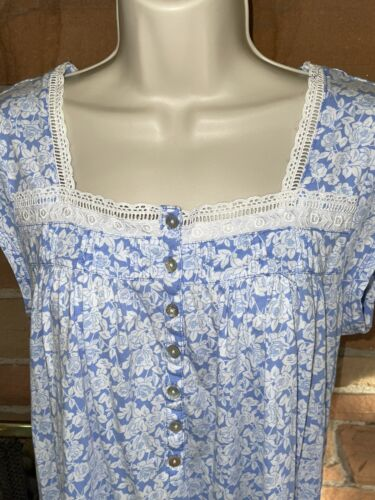 Eileen West Small Short Knit Cotton Nightgown
