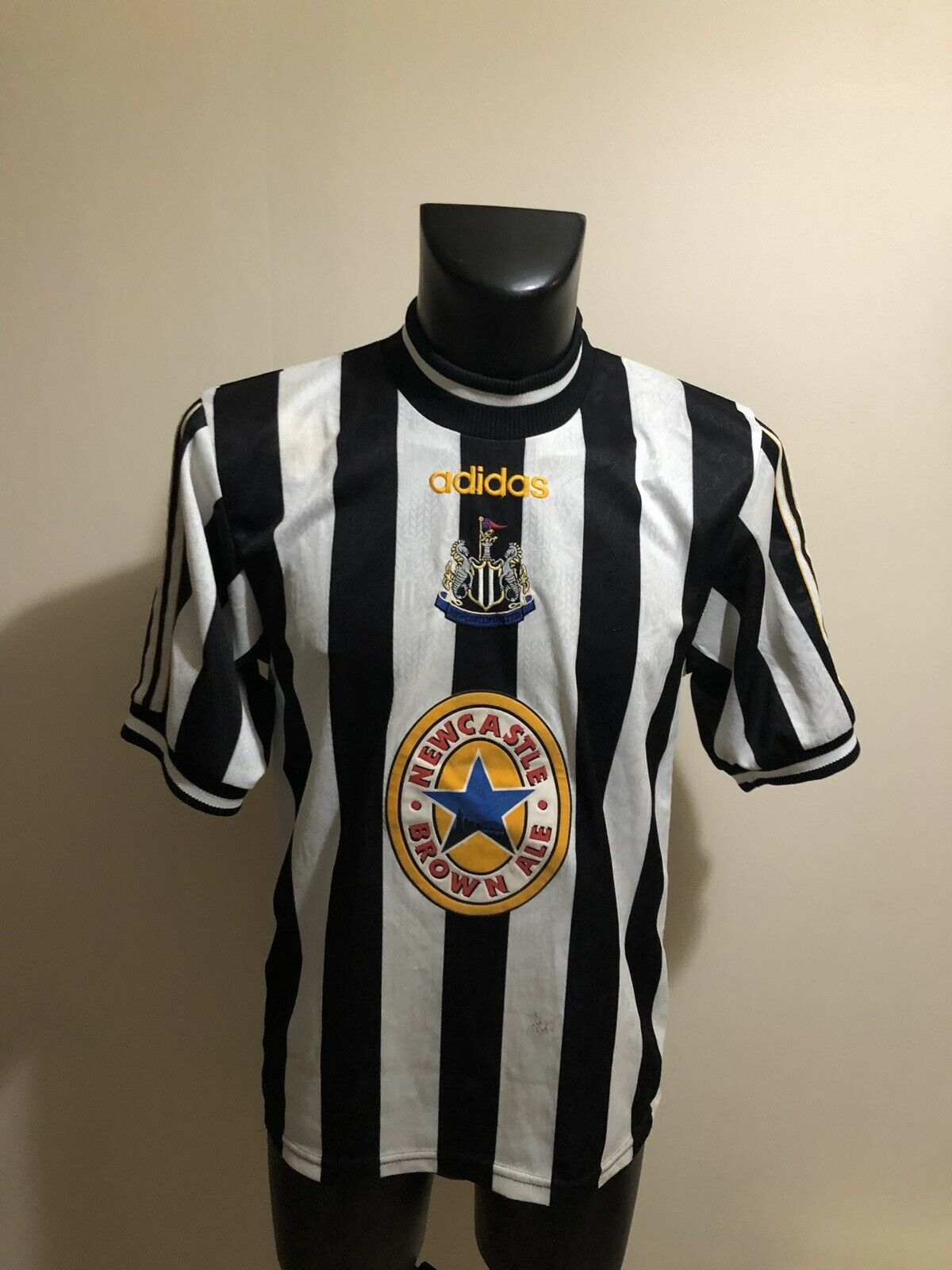 Maillot Foot Ancien Vintage Newcastle Dimensione S
