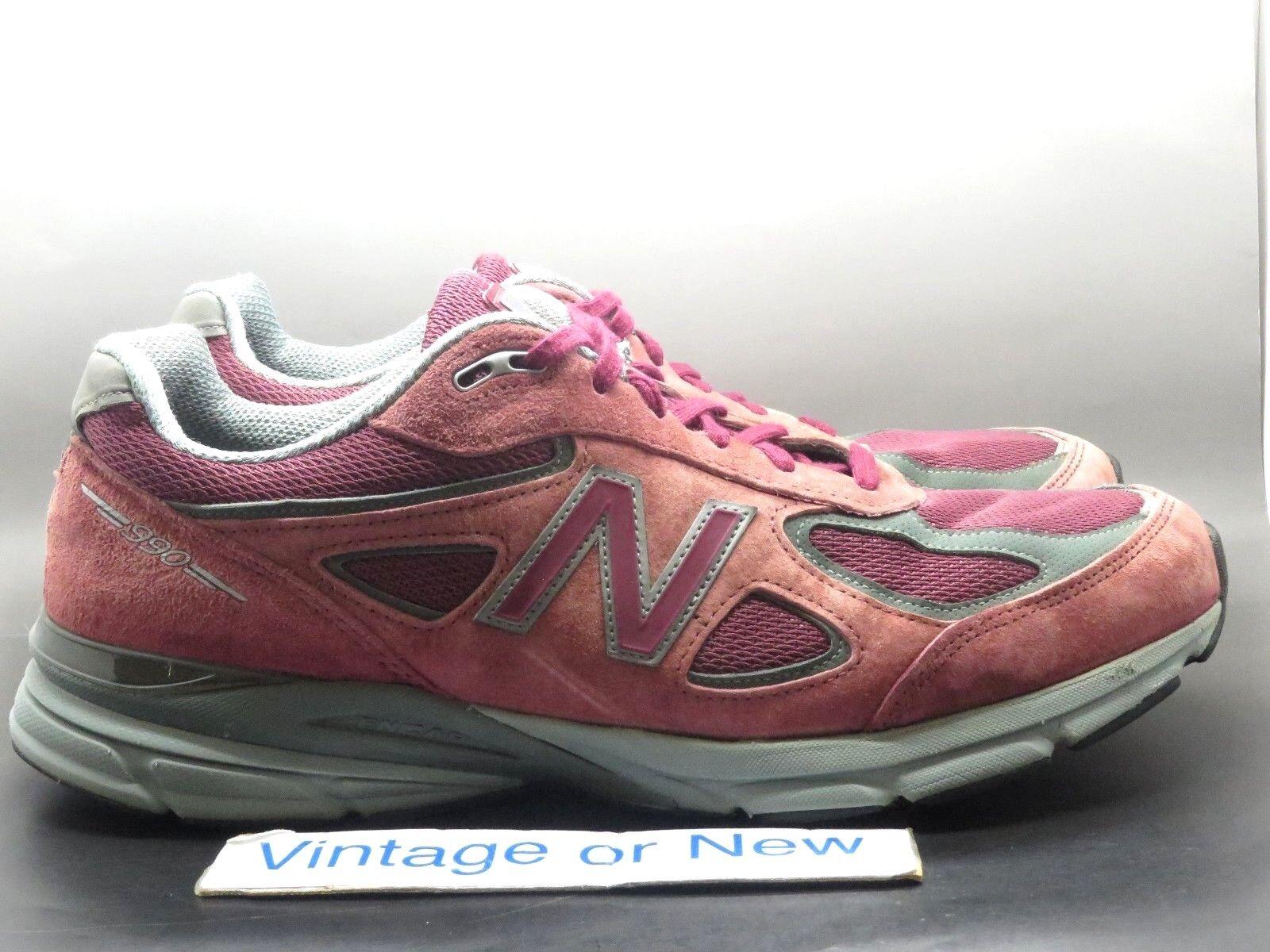 Men's New Balance 990v4 Burgundy M990BU4 Running shoes sz 14