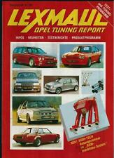 LEXMAUL OPEL TUNING REPORT SONDERHEFT 9/1989 PROSPEKT (BROCHURE)