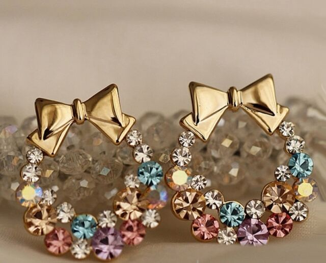 Women Trendy Earring Stud Various Design Gold Plated /Rhinestone/ Alloy/Pearl