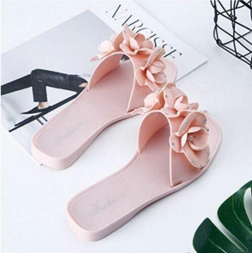 Cute Women Flip Flops Summer Flower Design Beach Sandals Slippers Hot Female