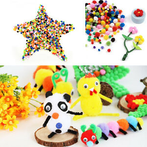 10mm-Pompoms-1000-Pcs-Mixed-Colours-Mini-Soft-Pom-Poms-Arts-And-Crafts-Free-Post