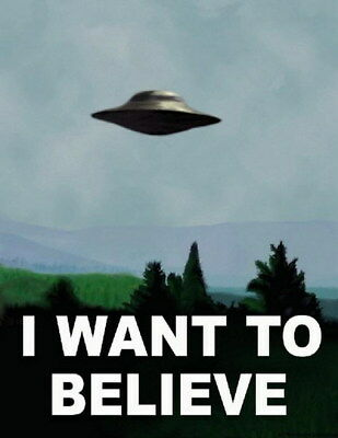 KM/_ KF/_ JN/_ 50.5x35cm I Want To Believe Vintage UFO Painting Poster Wall Home