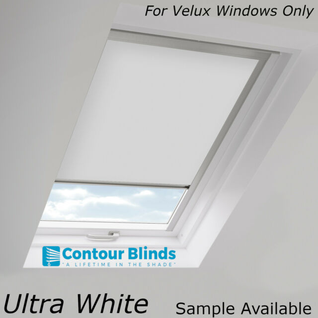 White Blackout Fabric Skylight Blinds For All Velux Roof Windows