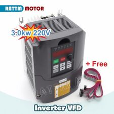 Hy 3kw 4hp 220v Variable Frequency Drive Inverter Spindle Vfd Control 2m Cable