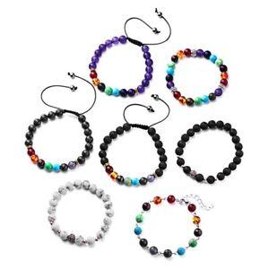 Healing-Elastic-7-Chakra-Stone-Balance-Natural-Beaded-Bracelet-Women-Men-Jewelry