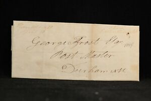 New Hampshire: Hanover 1817 Stampless Cover, Ms, Postmaster Free to Durham