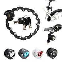 2014 ROCKBROS Bike Anti Theft Lock Chain Folding Lock Hamburg Lock Black