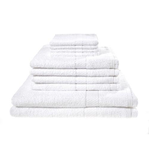 LUXURY TOWEL BALE SET 100/% EGYPTIAN COTTON 10PC FACE HAND BATH BATHROOM TOWELS