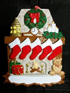 You Can Personalize Fireplace with 5 Stockings Family ...