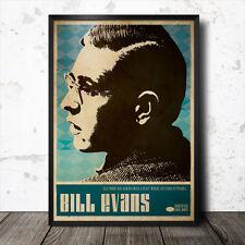 Bill Evans Art Poster Music Jazz coltrane Charles Mingus Miles Davis