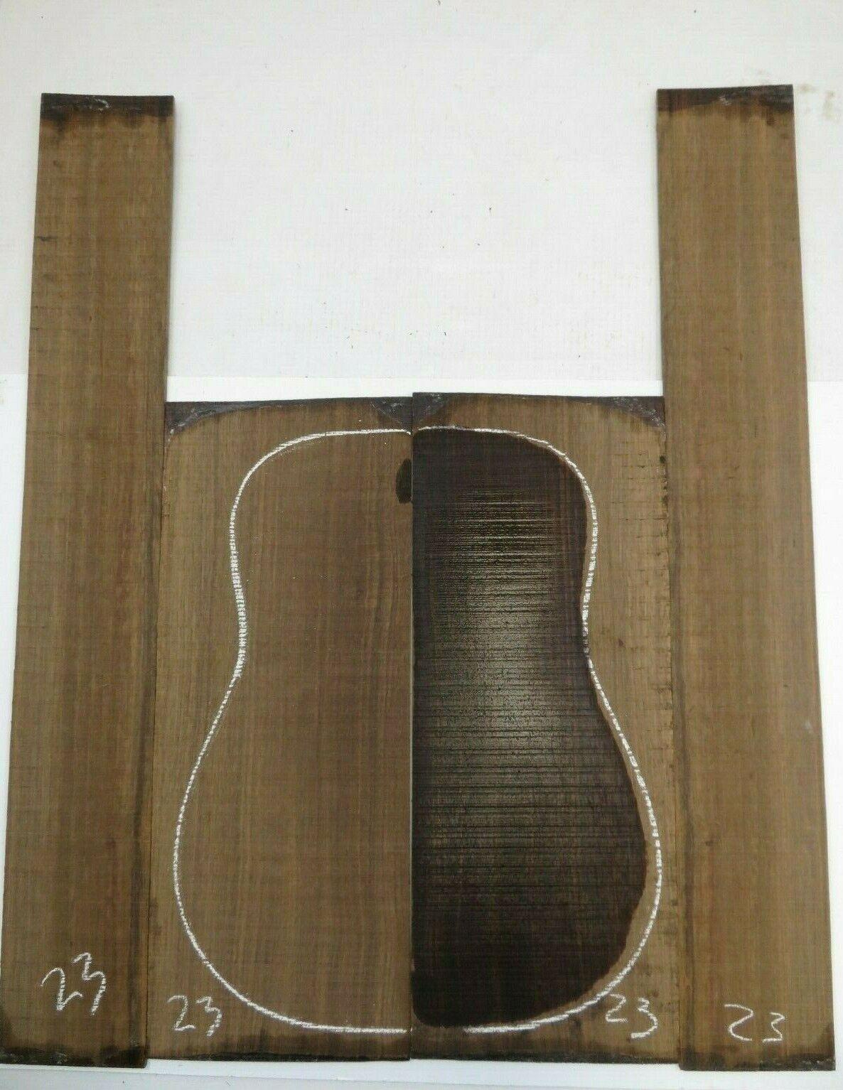 Gitarre Hinten Seite Dreadnought Laural Set AAAA23 Gitarrenbauer Tonewood Buch