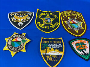 Various State Patches #26 Lot Of 6 Various Departments From United States
