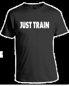 JUST TRAIN T-Shirt LOGO Bodybuilding Gym Motivation Training MMA Sport Gift