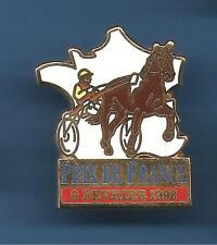 Pin's pin CHEVAL SULKY PRIX DE FRANCE 9 FEVRIER 1992 (ref 057)