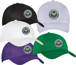 Image is loading Wimbledon-Tennis-tournament-Hat-Cap-Adjustable 1d0de75cca6