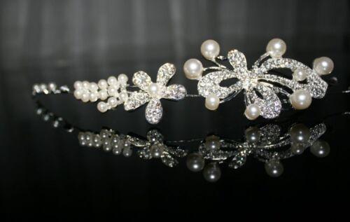 Perle Kunstperlen HaargesteckK Haarschmuck Kristall  Hochzeit Braut Prinzessin