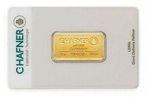 10 Gramm Goldbarren - C.Hafner - Gold 999,9 Feingold Barren