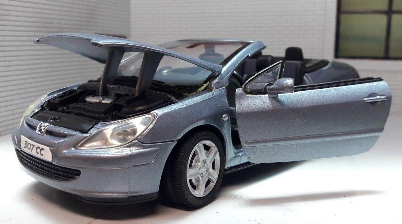 LGB 1 24 Escala Escala Escala Peugeot 307 307CC Converdeible Detallado de Metal Motormax c7dcc4