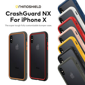 competitive price df0b7 d2849 Details about RhinoShield CrashGuard NX for iPhone X | Rhino Shield Crash  Guard Bumper