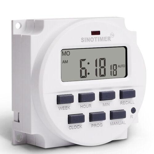 SINOTIMER Digital 220V//110V//24V//12V 16A Microcomputer Programmable Timer Switch