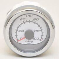 Mercury Boat Oil Pressure Gauge 79-879916k31 | Smartcraft White