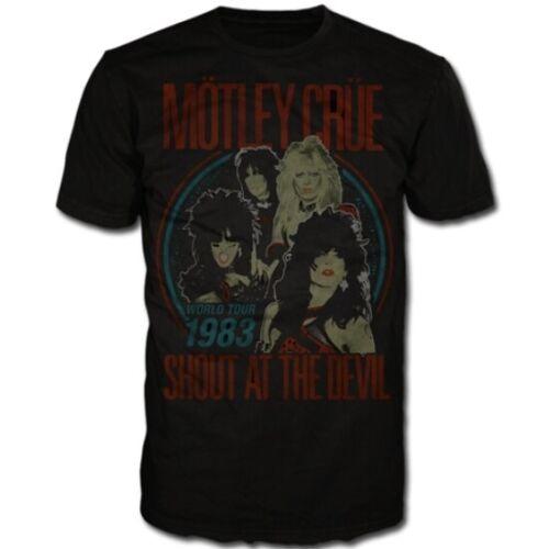 Motley Crue Shout At The Devil Vintage World Tour Shirt S-XXL Official T-Shirt