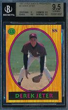 DEREK JETER 1992 LITTLE SUN HIGH SCHOOL PROSPECTS BGS 9.5 GEM ROOKIE CARD #2 SP!
