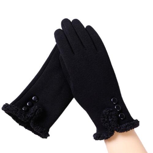 Women Ladies Touch Screen Gloves Warm Winter Outdoor Sport Full Finger Mittens