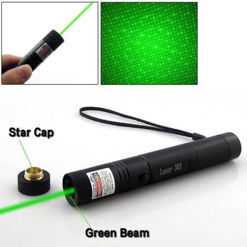 High Power 1mw 303 Green Pointer Laser Pen Adjustable Focus 532nm Burning UK XZ