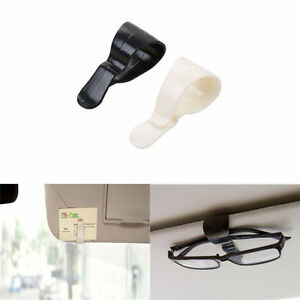 2pcs black white car interior sun visor pvc clip holder for card sunglasses pen ebay. Black Bedroom Furniture Sets. Home Design Ideas
