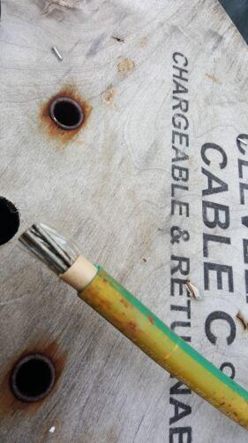 70 mm Cuivre Câble De Terre tin Coated vert et jaune Couleur Par Mètre
