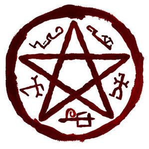 Framed Print Symbol of Azazel Picture Poster Supernatural Satanic