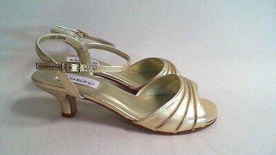 Nuevo: Dyeables Boda Zapato-Oro Metálico-Brielle-US 11 B UK 9 #36B296