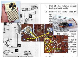 Regency TR-1 Vintage Transistor Radio Electrolytic Capacitor Recap Kit