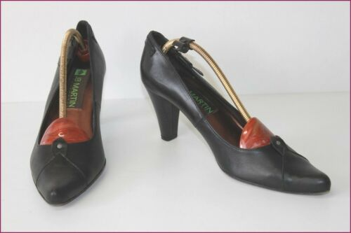 Leather Martin T All Pumps Black Tbe JB 39 CpOqa8Ow