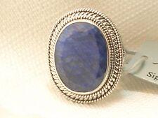 New Sterling Silver Samuel Benham BJC African Sapphire Ring