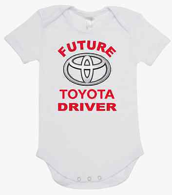 BABY ONE PIECE ROMPER printed with FUTURE BMW DRIVER brand new