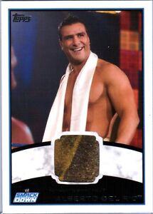 WWE-Alberto-Del-Rio-2012-Topps-Authentic-Event-Worn-Shirt-Relic-Card-Multi-Color
