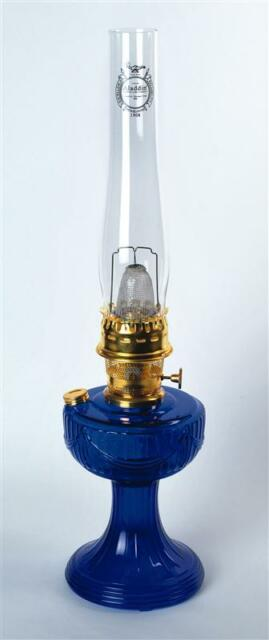 New Aladdin Mantle Lamp Company Cobalt Blue Short Lincoln Drape Lamp #C6177