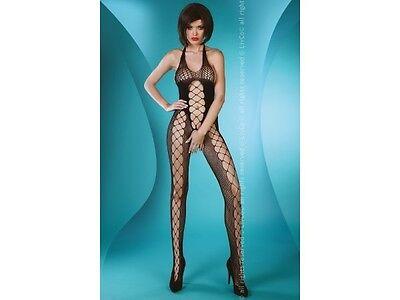 Sexy Livco Corsetti Solveig Netz Catsuit 36-40 Schwarz Schritt Offen Body S-l AusgewäHltes Material
