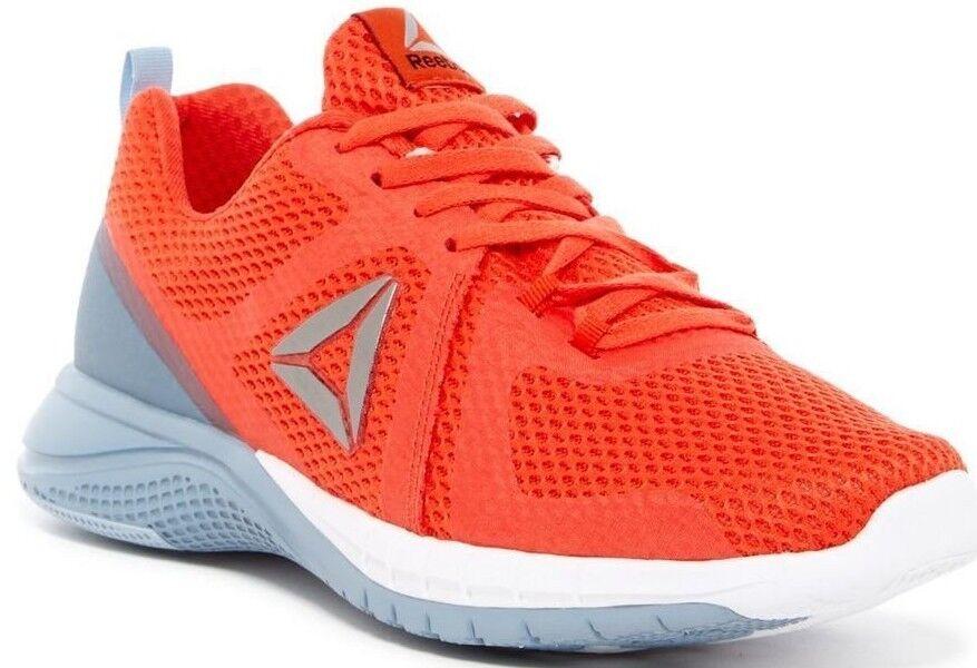 Reebok BD4542 Print 2.0 Men 9 US Round Toe Mesh Net orange Grey Running shoes
