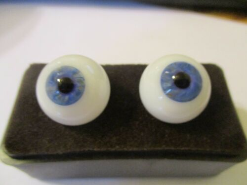 22 mm Blue Vintage Handblown Glass  11 mm Iris G14