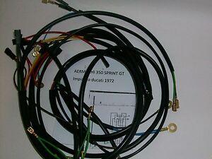 IMPIANTO-ELETTRICO-ELECTRICAL-WIRING-MOTO-AERMACHI-350-SPRINT-GT-CON-SCHEMA