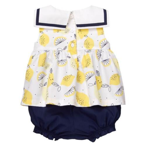 NWT Gymboree Bright Days Ahead Lemon Sailor 1 pc Romper Baby Girl 0-3-6-12-18