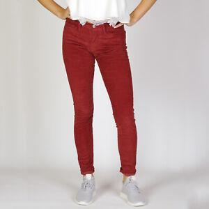 Levi-s-710-Super-skinny-Russet-Brown-Damen-stretch-rot-Corduroy-Jeans-27-30