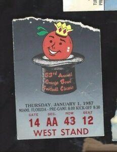 1987-Orange-Bowl-college-football-ticket-Arkansas-Razorbacks-v-Oklahoma-Sooners