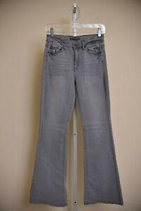 KanCan-Jeans-Cary-Flare-Light-Gray-Stretch-Denim-Women-039-s-size-7-27-26-x-33