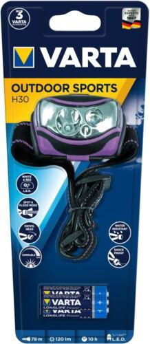 Varta Stirnlampe LED Outdoor Sports H30 inkl 3x AAA Batterien 18630